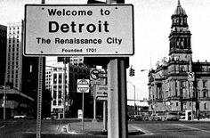 Welcome to Detroit. (Historic Wayne County Bldg. to the right)