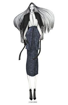 ISSA GRIMM: fashion illustration issagrimm.com #fashionillustration #fashiondesign