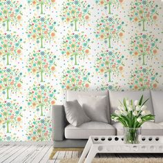 Coloroll Tree of Life Wallpaper - Red and Green - http://godecorating.co.uk/coloroll-tree-of-life-wallpaper-red-and-green/