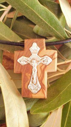 Hand carved Greek Olive Wood small cross by ellenisworkshop, $34.00