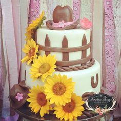 A fabulous Cowgirl birthday cake at this Western Chic Birthday Party! See more party ideas at CatchMyParty.com