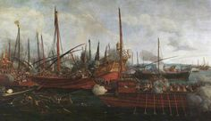 The Battle of Lepanto (7th October 1571)The Battle of Lepanto (7th October 1571) by Italian School National Trust Date painted: c.1600