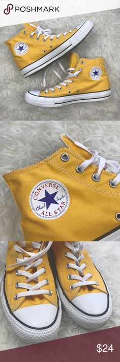 6702f51162c1 Converse All Star Yellow High Tops Excellent condition Converse All Star  High Top Sneakers. Deep