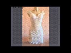 Patrones de vestidos clásico tejidos a crochet - YouTube
