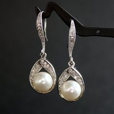 @Jen Earrings--you could do this... pearls with the diamond/rhinestones