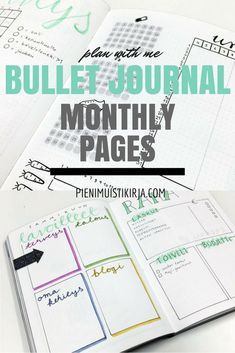 Bullet journal monthly pages - plan with me