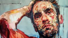 "Saskatchewan Artist Andrew Salgado now living in London - ""Trust"" (self portrait) - 2012"