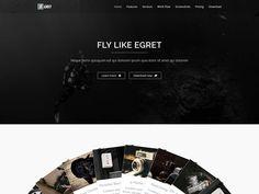 Egret Landing Page
