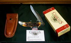 Vintage USA Made Camillus #6 Knife & Sheath Folding Hunter 1974 Indian Stag Line W/Packaging Rare @ ditwtexas.webstoreplace.com
