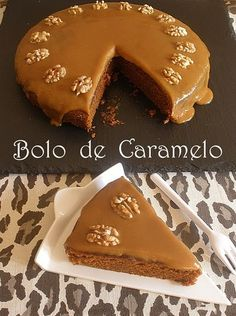 O segredo revelado do Flagrante Delícia caramel cake look s so good I will make the effort to translate this recipe and try it No Bake Desserts, Just Desserts, Delicious Desserts, Yummy Food, Cupcakes, Cake Cookies, Cupcake Cakes, Sweet Recipes, Cake Recipes