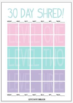 30 day shred on Pinterest | 30 Day Shred Results, Jillian Michaels and ...