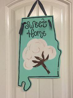 Sweet Home Alabama wooden door hanger $45 shipped. & State of Alabama Chevron door hanger university of al door hanger ...