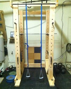 Wood Power Rack With Crossfit Ring