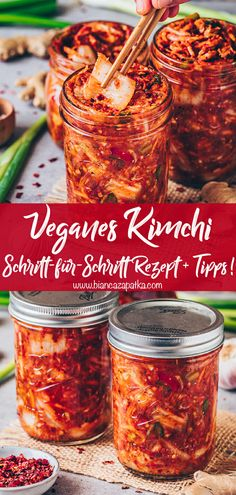 Vegan Kimchi Recipe, Vegetarian Recipes, Healthy Recipes, Healthy Food, Fermentation Recipes, Canning Recipes, Homebrew Recipes, Beer Recipes, Kitchen