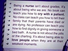Being a nurse... the love that I have for this post is unexplainable