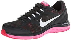 cool Nike Women's Dual Fusion Run 3 Anthrct/White/Hypr Pnk/Fchs Fr Running  Shoe 9 Women US