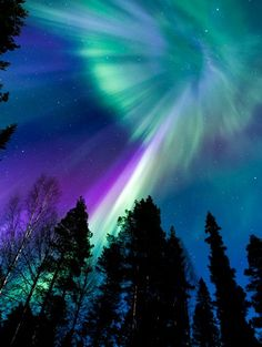 """A polar geomagnetic storm that began during the late hours of April 11th is subsiding now. At its peak, the storm registered 5 on the Kp scale of magnetic disturbances, which means it was a relatively minor event. Nevertheless, it was strong enough to spark naked-eye auroras. A family of """"aurora addicts"""" traveling through Boden, Sweden, took this picture of the light."""
