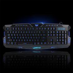 2016 New Multimedia Russian Keyboard 104 Keys 3 Colour LED Backlit Gaming Keyboard USB Wired For Laptop Desktop PC //Price: $58.10 & FREE Shipping //  #gamergirl #gaming #video #game #winning