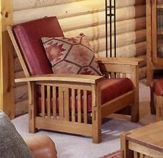 "Crafted from quarter sawn white oak, Morris Chairs are the quintessential ""craftsman style"" piece."