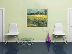 Získajte aj Vy 5€ na nákup krásnych obrazov! Obraz na plátne POHĽAD NA ARLES S KOSATCAMI – Vincent van Gogh REP128