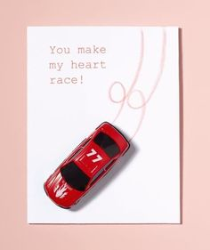 you make my heart race valentine card