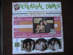 Rehearsal Dinner - Left Side - Scrapbook.com