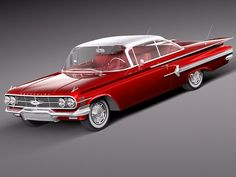 Chevrolet Impala 1960 coupe Model in Classic Cars Chevrolet Impala 1960, Car Chevrolet, Pontiac Gto, Us Cars, Sport Cars, Rat Rods, Muscle Cars, Vintage Cars, Antique Cars