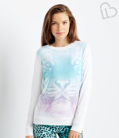 Aeropostale Womens West Coast Tiger Graphic T-Shirt