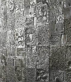 Recycled cast aluminum Wall Tiles by David Umemoto are quite the pieces of art.