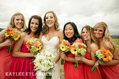 Hidden Meadows Wedding | Kaylee Eylander Photography | Coral & grey wedding colors