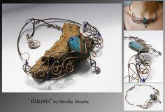 Atlantis- wire wrapped necklace by mea00.deviantart.com on @deviantART