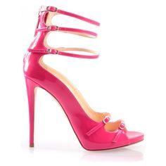 Giuseppe Zanotti Strappy Neon Heel ($890) ❤ liked on Polyvore