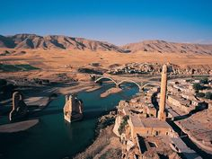 Hasankeyf is an ancient town and district located along the Tigris River in the Batman Province in southeastern Turkey. It has been settled for perhaps as long as three millennia, though most cliff dwellings are around 2,000 years old. It was perhaps inhabited first by Assyrians and/or Urartians, and then most certainly by successive Roman, Byzantine, Turkic, and Arabic dynasties.