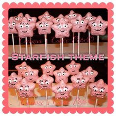 Star fish cake pops