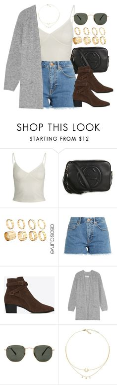 """Sin título #12509"" by vany-alvarado ❤ liked on Polyvore featuring Gucci, ASOS, M.i.h Jeans, Yves Saint Laurent, By Malene Birger and Ray-Ban"