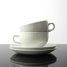 2 Cups with Saucer / Royal Copenhagen / Grethe Meyer /