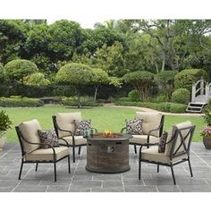 Better Homes And Gardens Byron Valley X Back 5 Piece Gas Fire Pit Set