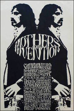 1968 Frank Zappa / Mothers of Invention Concert Poster — Berkeley Community Center