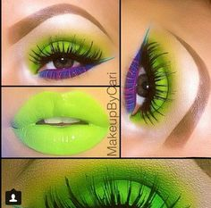Ohhh hot color/ neon makeup