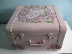"""Paris"" Handpainted Suitcase-Paris Hand Painted Suitcase"
