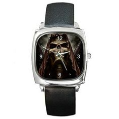 DIA264 Gothic Skeleton dark powers leather wrist watch ** Click image for more details.