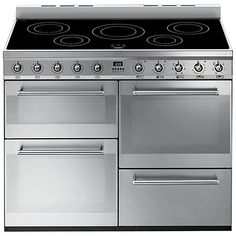 Buy Smeg SYD4110I Symphony Range Cooker with Induction Hob, Stainless Steel Online at johnlewis.com
