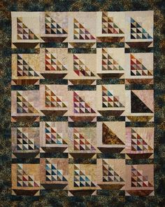 Edyta Sitar Sailboats -- good for scraps -- 1/2 square triangles