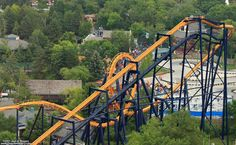 Batman the ride, Six Flags Great America Gurnee, Il. Inverted roller coaster, Batman The Ride begins with a curved drop leading into the first vertical loop. Next, it travels through a zero-g roll, and a second vertical loop. Several turns follow, and then two more corkscrews before the finishing brakes.