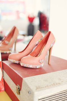 Candy heart rockabilly heels