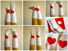 Heart Socks | 17 DIY Accessories To Keep You Cozy This Winter