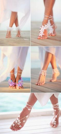"Before you start looking for bridal shoes, make sure you know exactly what your wedding venue is going to be like. What if you're dreaming to say ""I Do"" in the sand? One the biggest dilemma for a beach bride is having to decide what kind of shoes to wear. While beach weddings are all …"