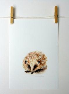 *Hedgehog - a spring beastie giclee print | Felt