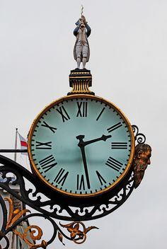 the little admiral and father time clock in york, yorkshire, england
