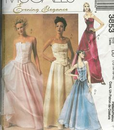 McCALLS 3853 Sewing Pattern WEDDING DRESS by PatternsNew2U on Etsy, $4.00